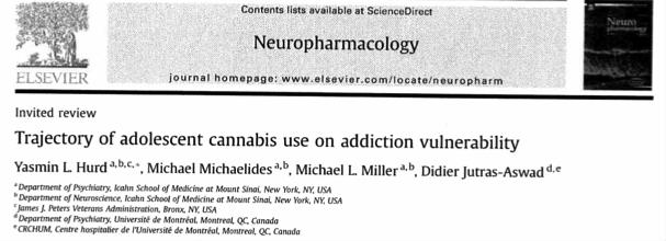 trajectoryof adolesent cannabis